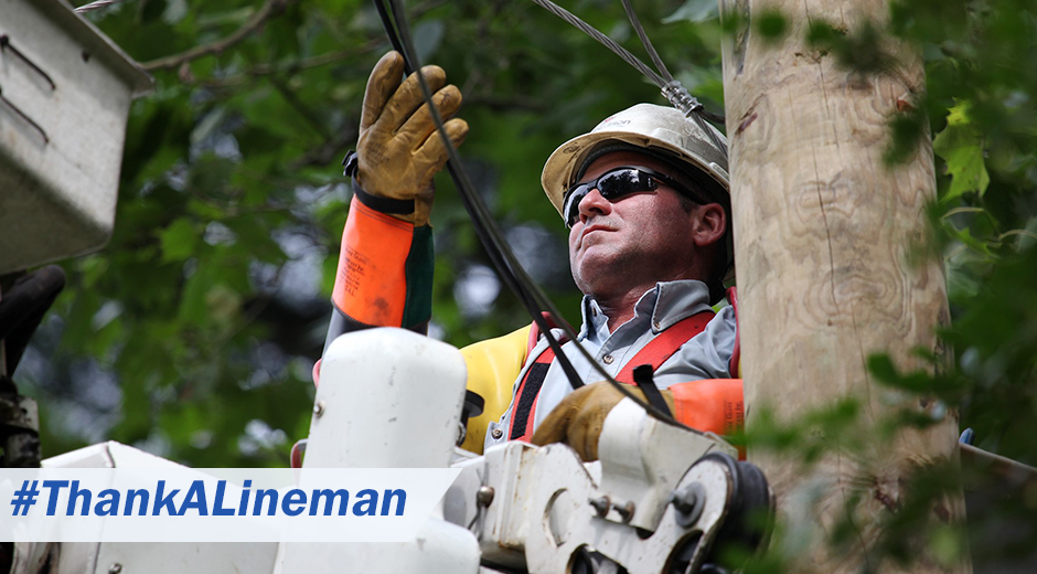 #ThankALineman Photo