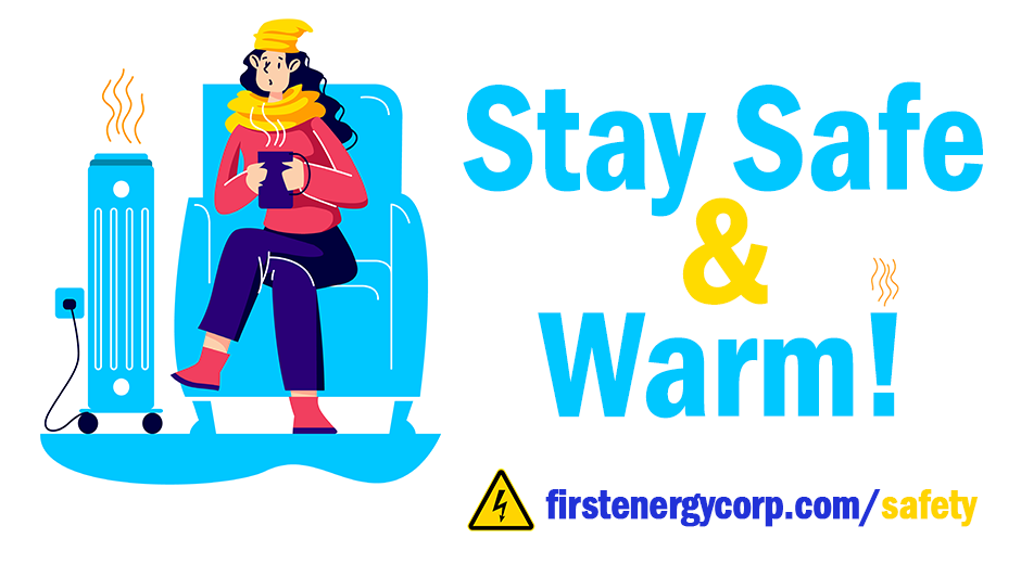 Stay Safe and Warm Social Media Graphic